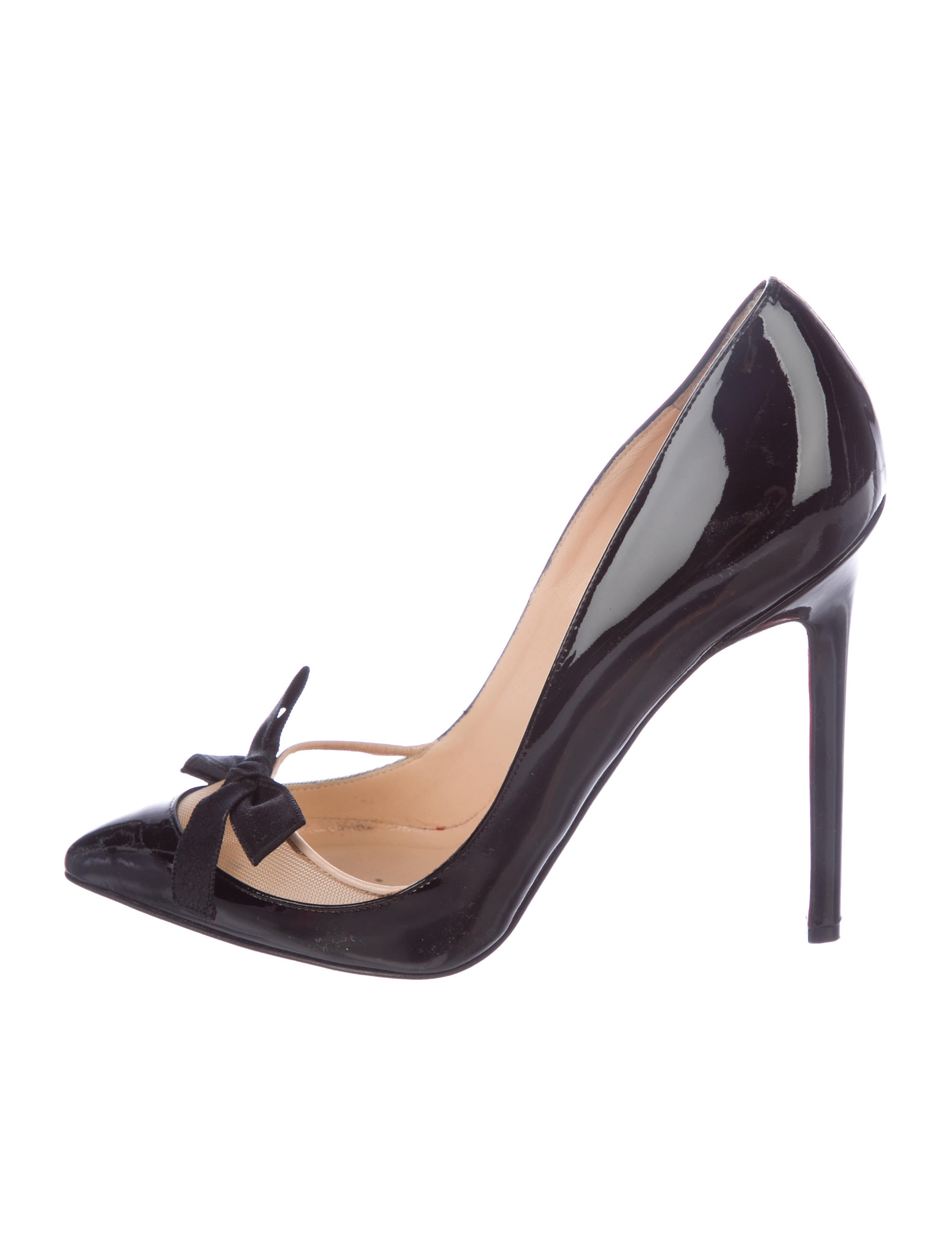 Christian Louboutin Leather Bow-Accented Pumps outlet sast free shipping buy cheap best wholesale xZQEO