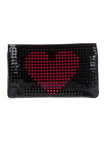 Christian Louboutin Loubiposh Valentines Spikes Clutch None
