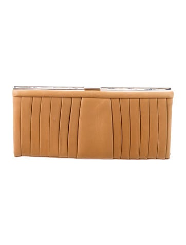 Christian Louboutin Pleated Frame Clutch None