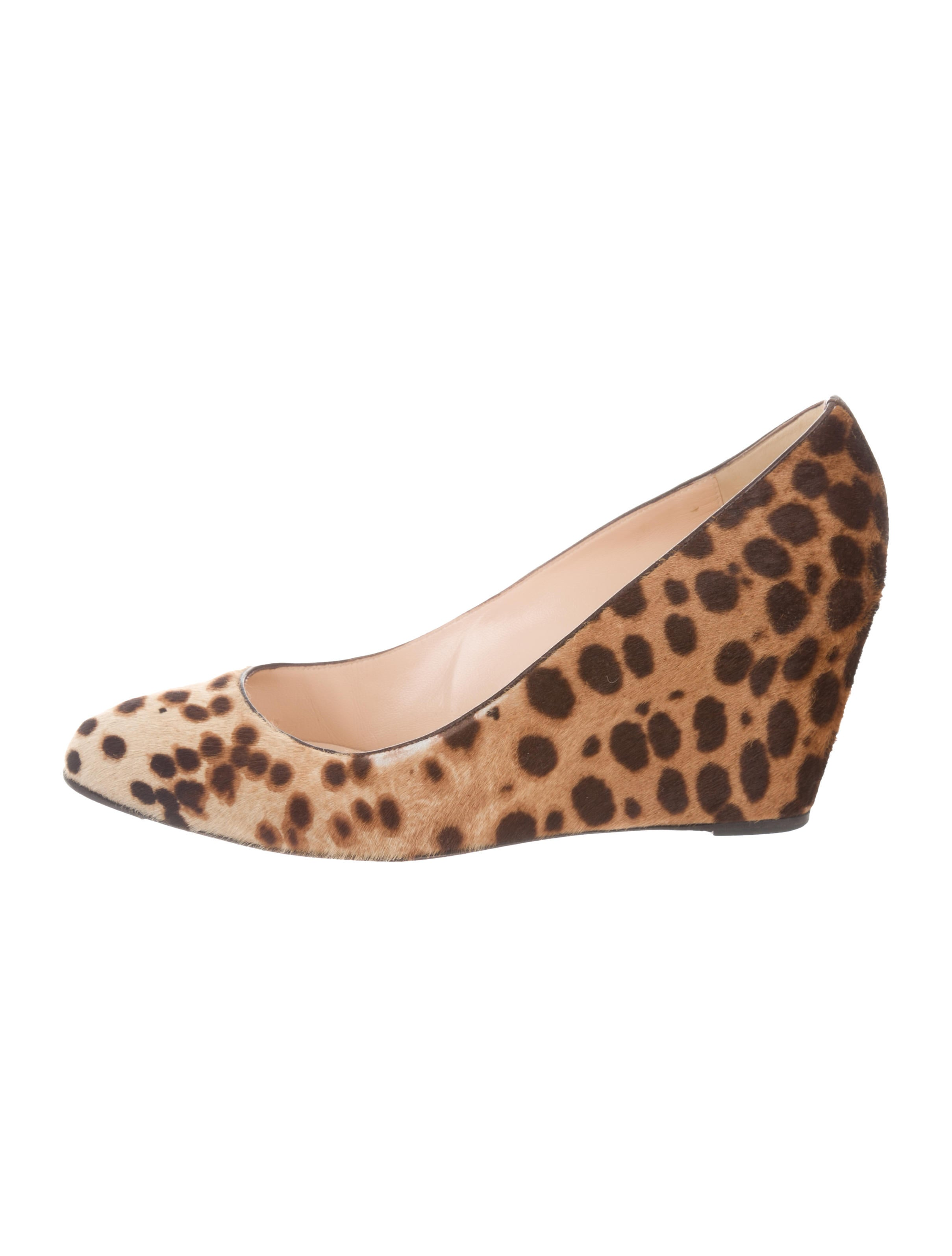 new styles cheap price Christian Louboutin Ponyhair Round-Toe Wedges discount reliable deals cheap online discount store best place cheap price 60i1Q3