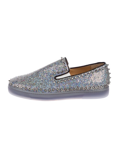9896becd18312 Christian Louboutin Pik Boat Flat Discoball Slip-On Sneakers w/ Tags ...