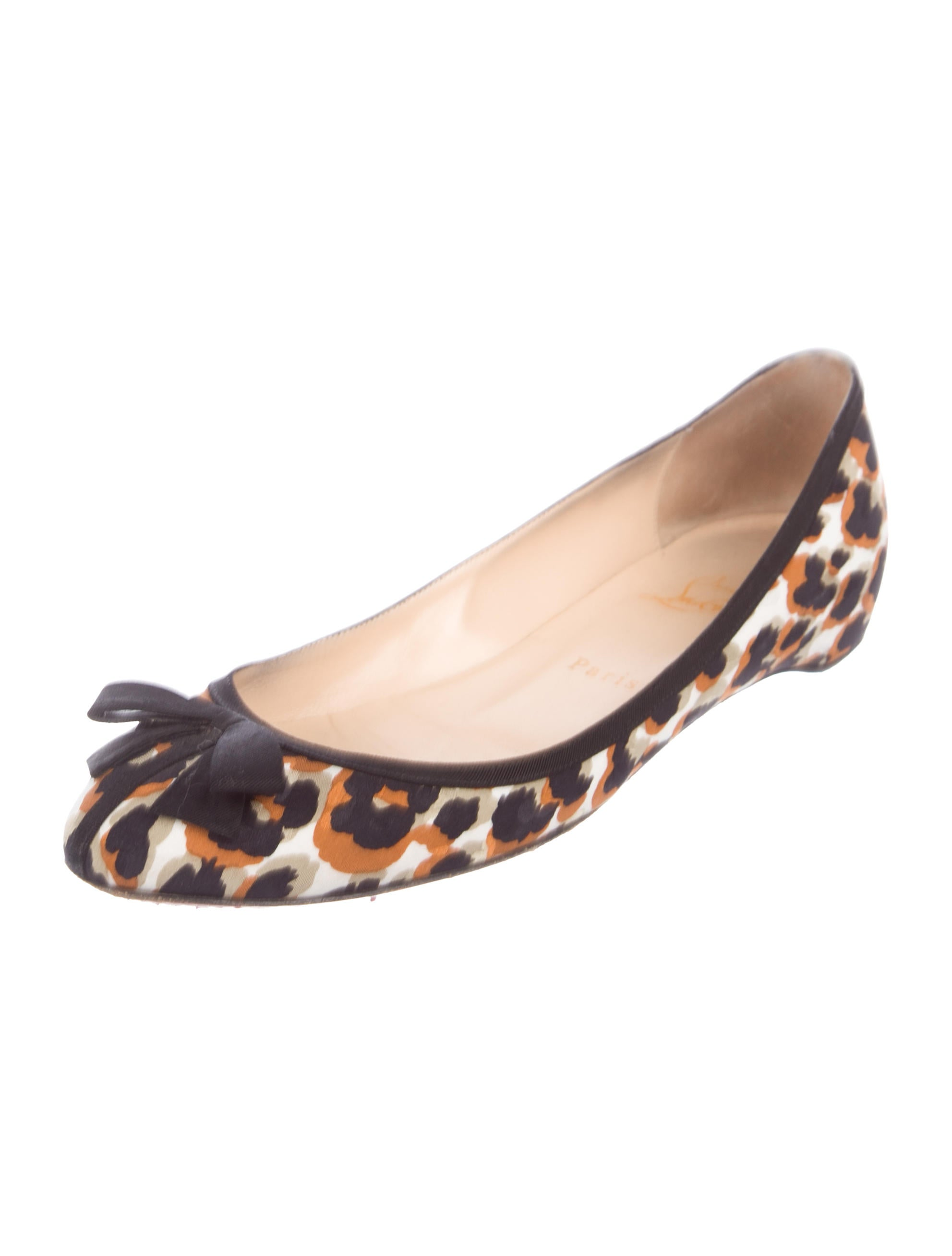outlet official site Christian Louboutin Printed Bow-Accented Flats buy cheap pick a best free shipping buy low shipping fee cheap online fashionable cheap price 0WgukF9UZG