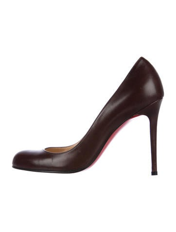 Christian Louboutin Leather Round-Toe Pumps None