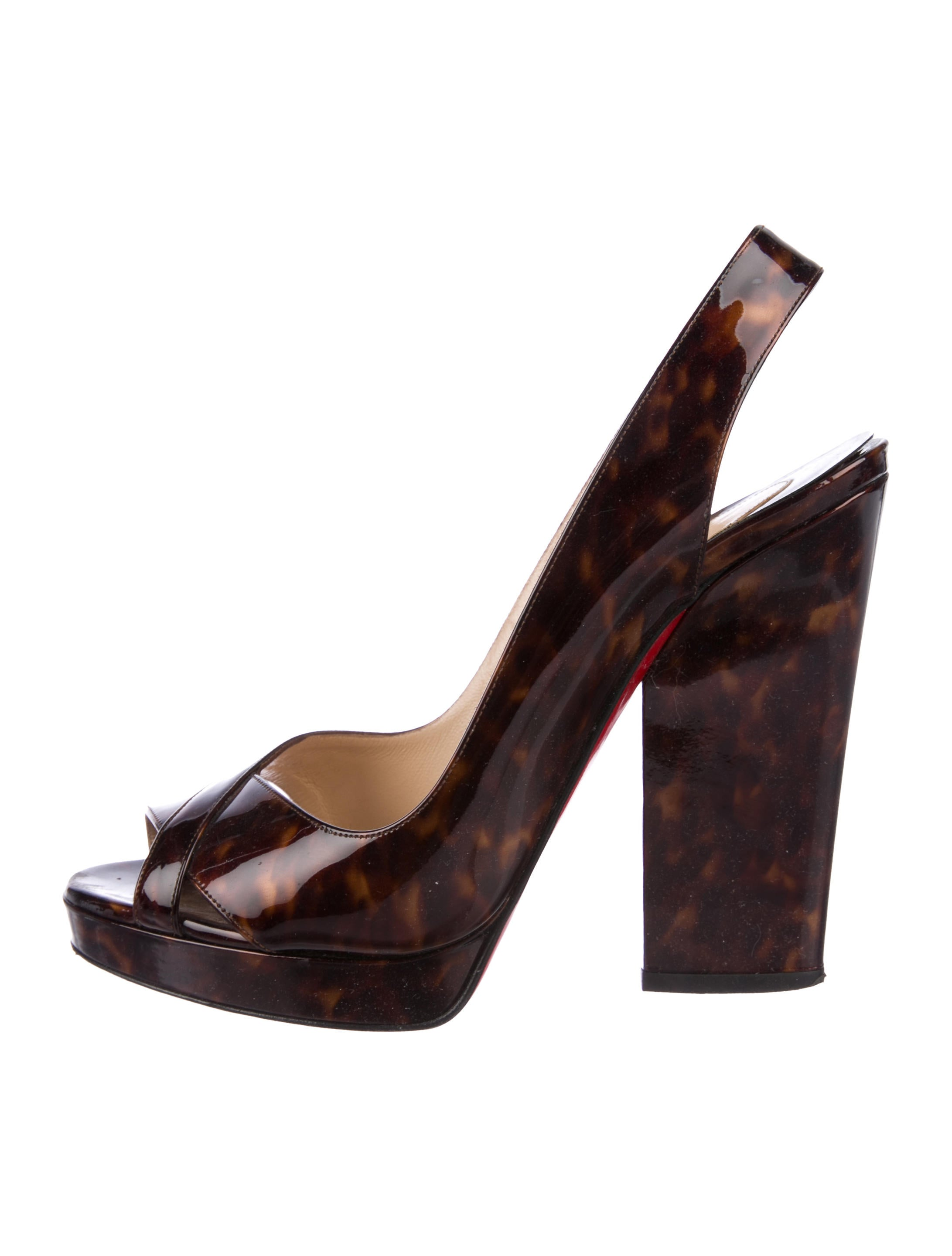 discount deals Christian Louboutin Tortoiseshell Slingback Sandals Inexpensive online clearance fake really cheap Se4udEWQI