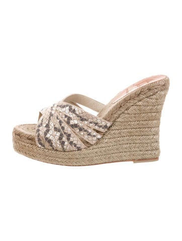 Christian Louboutin Cataribon Wedge Sandals w/ Tags outlet for nice quality free shipping low price outlet countdown package hQJyh