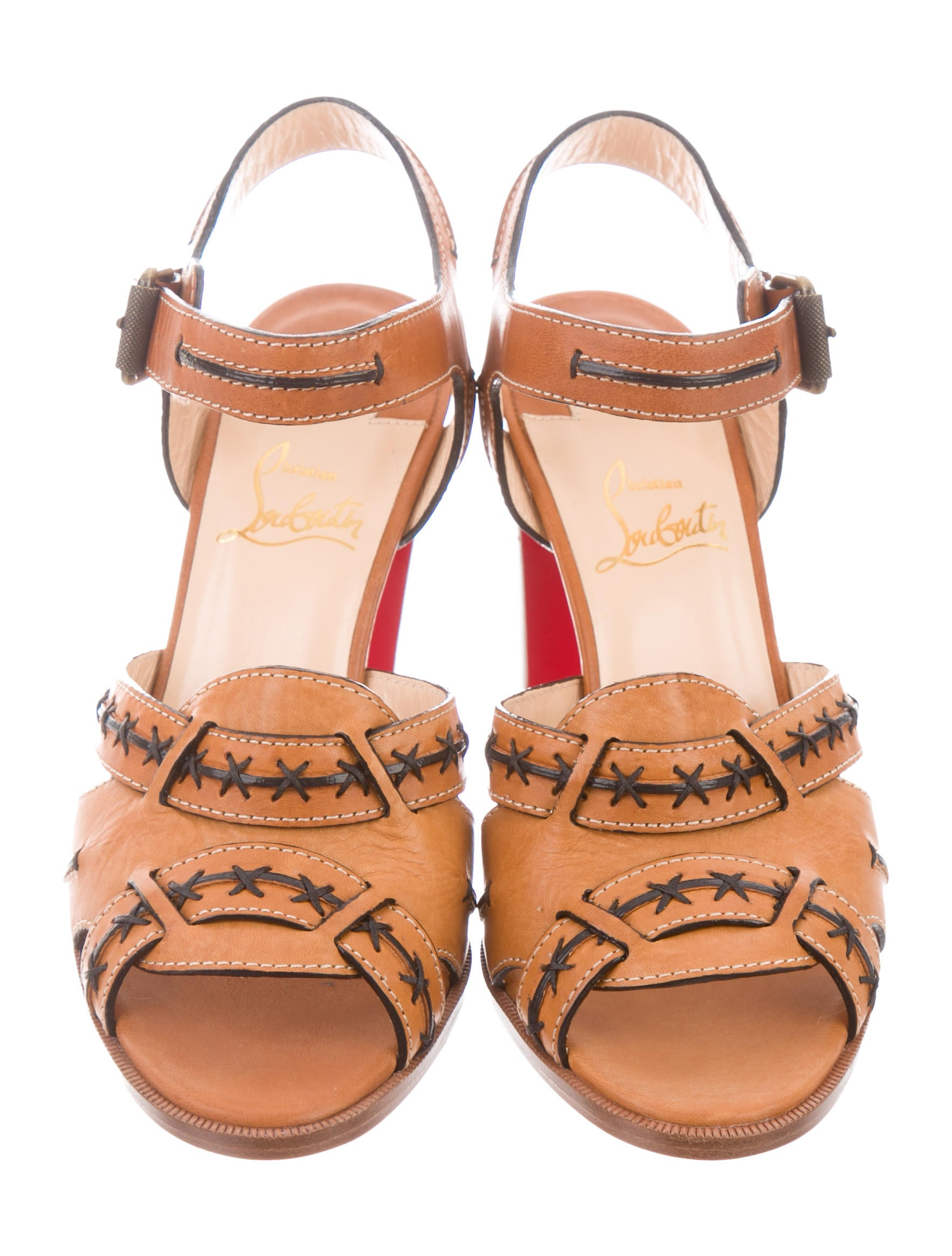free shipping footlocker pictures Christian Louboutin Valvale 85 Leather Sandals w/ Tags pick a best cheap sale visa payment brand new unisex discount largest supplier SeM5hHSPi