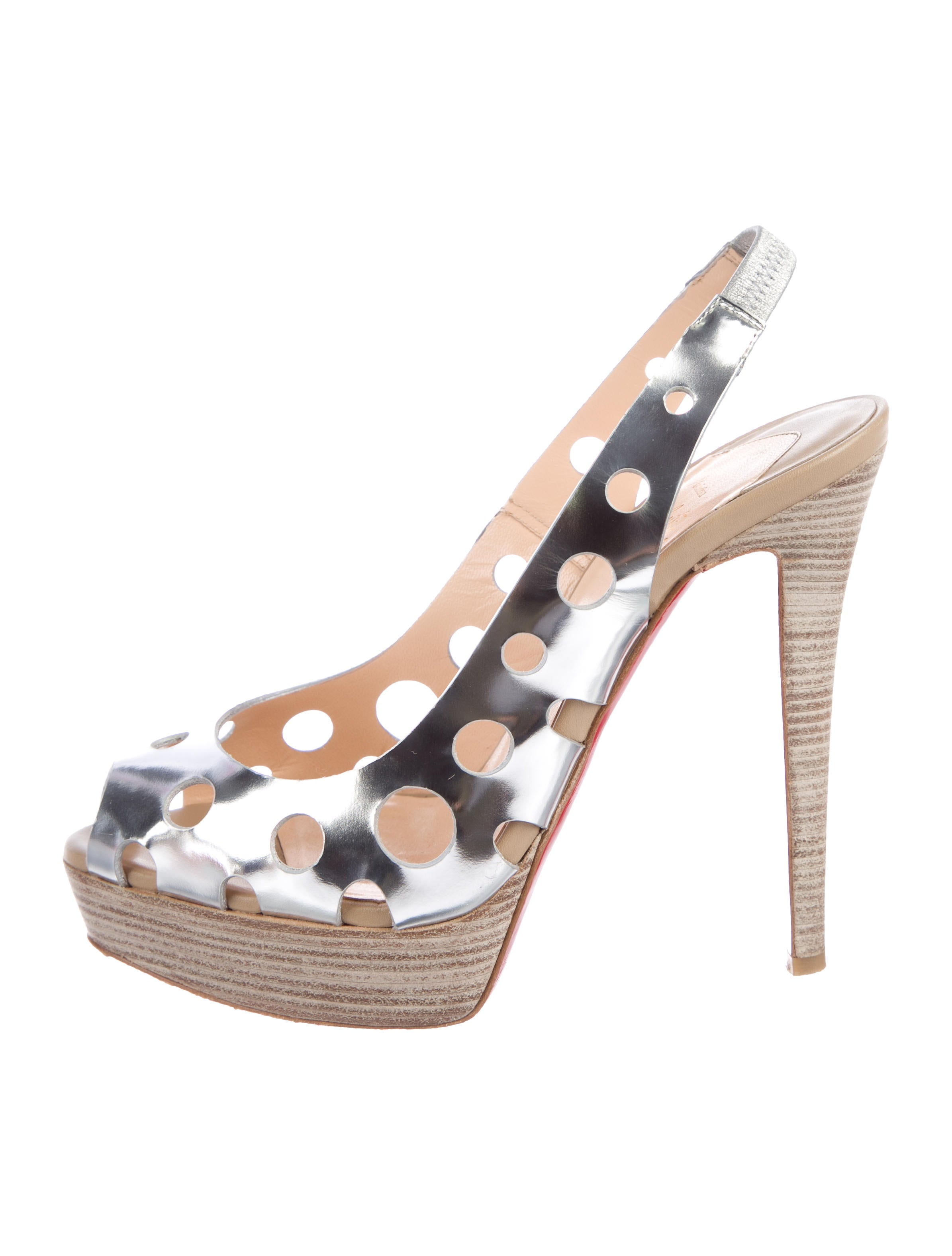 Christian Louboutin Ginza Metallic Sandals with paypal free shipping cheap the cheapest mpzrHvBOl