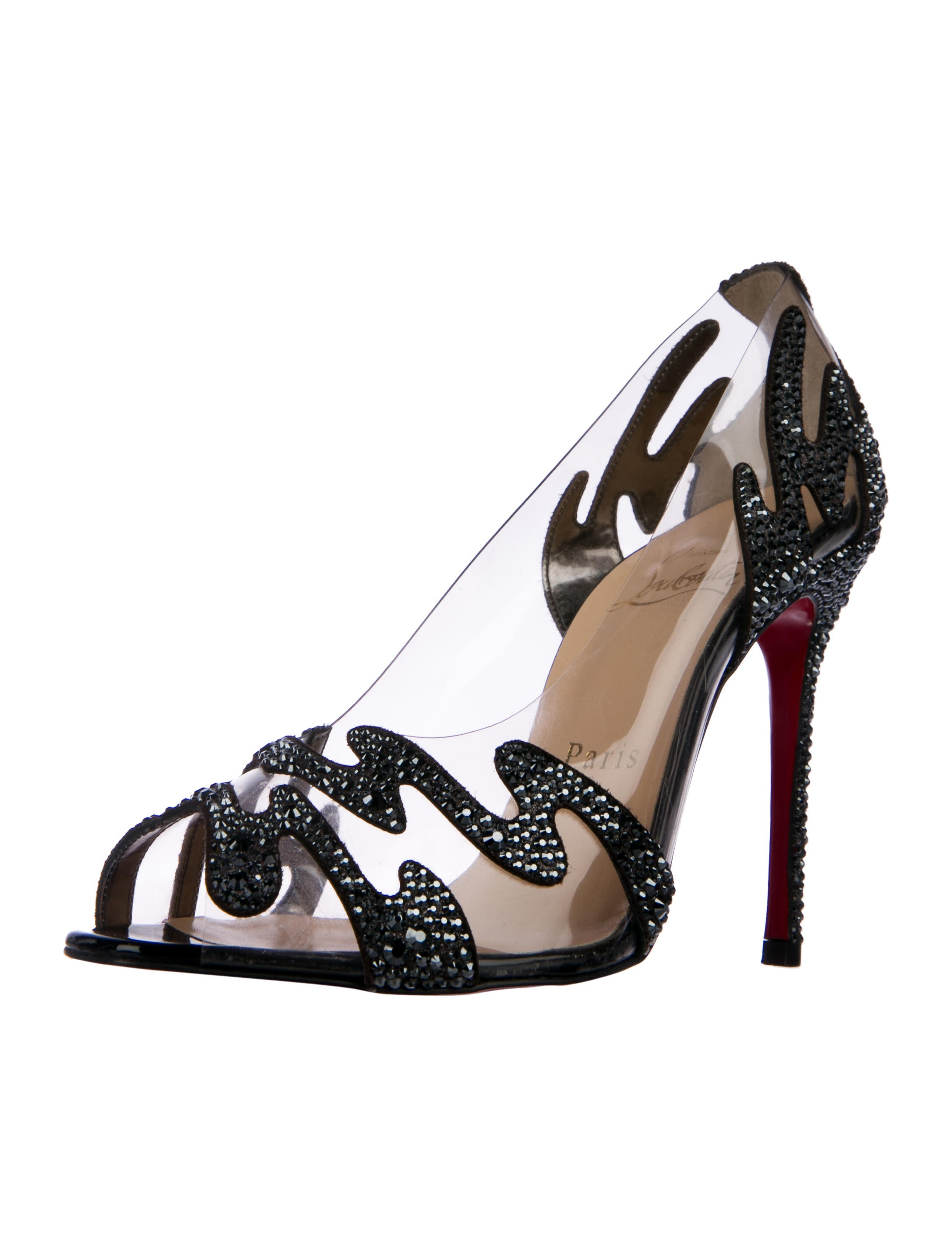 Christian Louboutin Illusions Strass-Embellished PVC Pumps amazing price for sale dAnN2