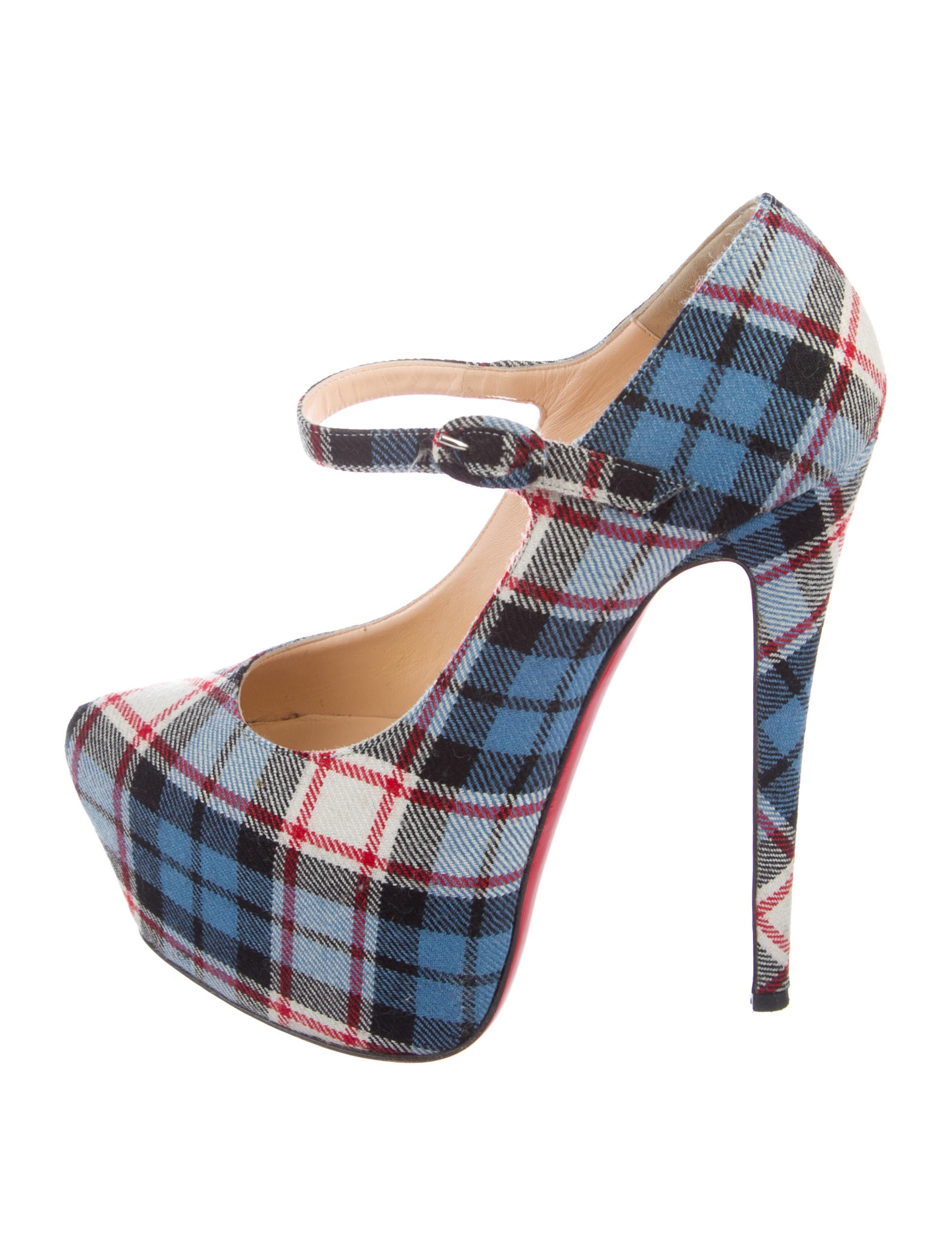 christian louboutin lady daf tartan mary jane