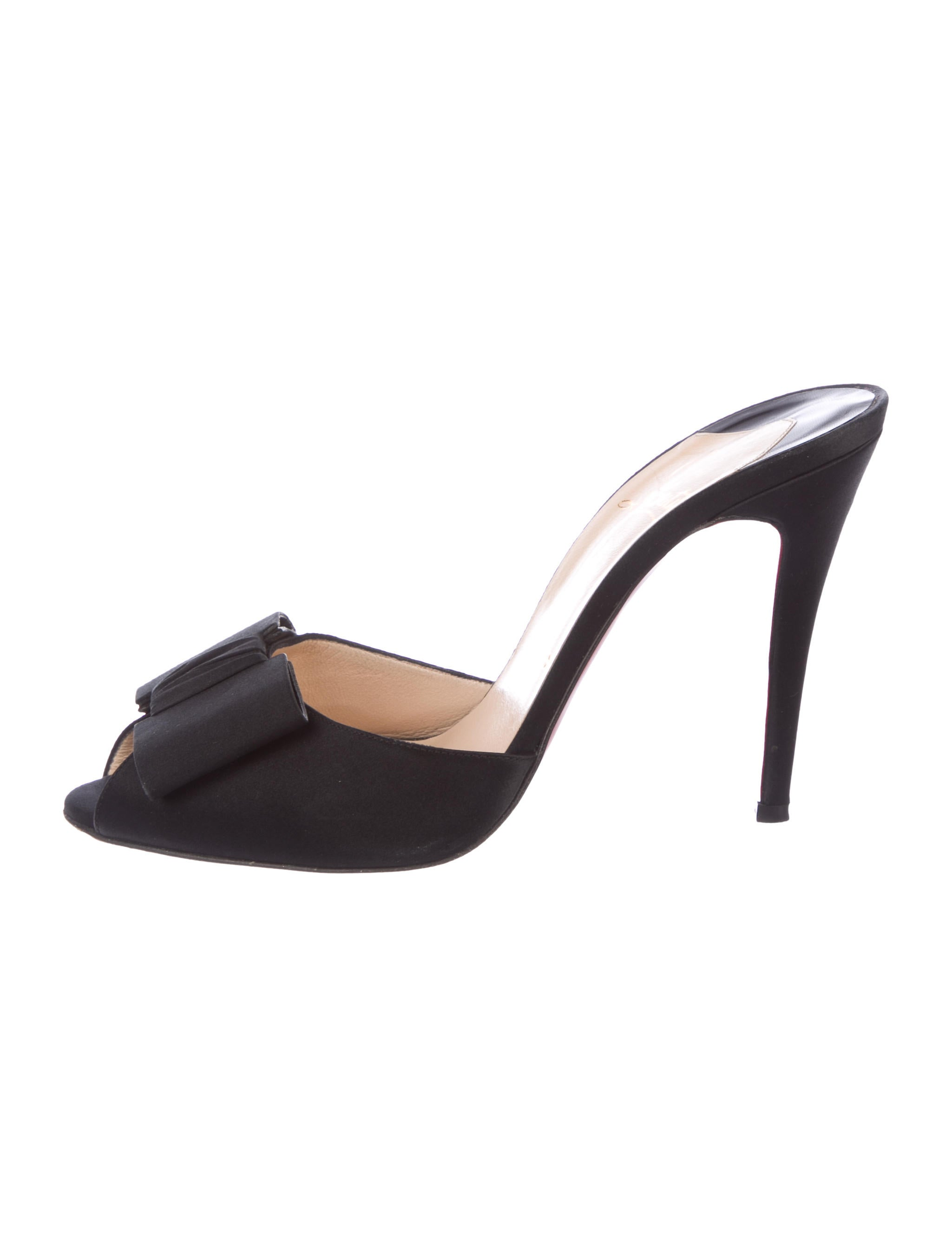 Christian Louboutin Satin Slide Sandals manchester great sale online discount footaction YTE84XU7s4