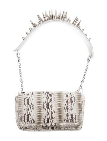 Christian Louboutin Watersnake Artemis Spiked Bag w/ Tags None