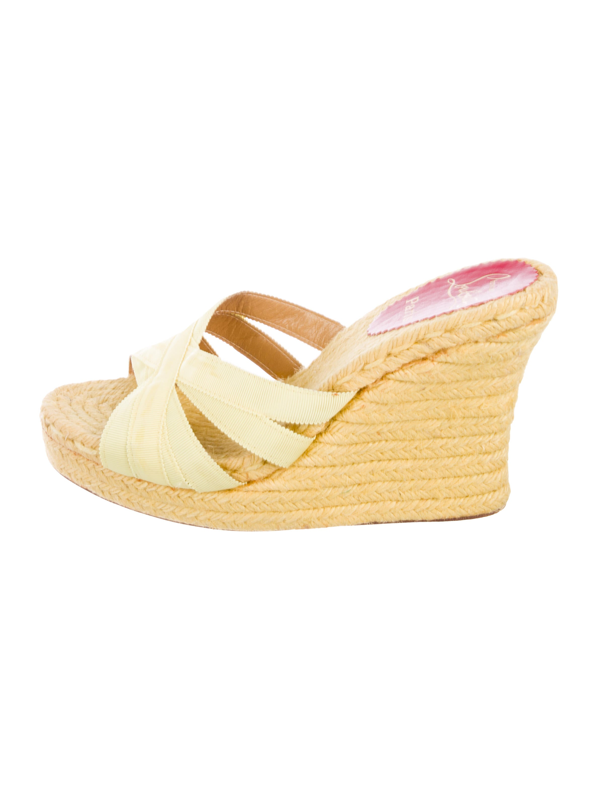 9958308fbf04 Christian Louboutin Cataribbon Espadrille Wedge Sandals - Shoes ...