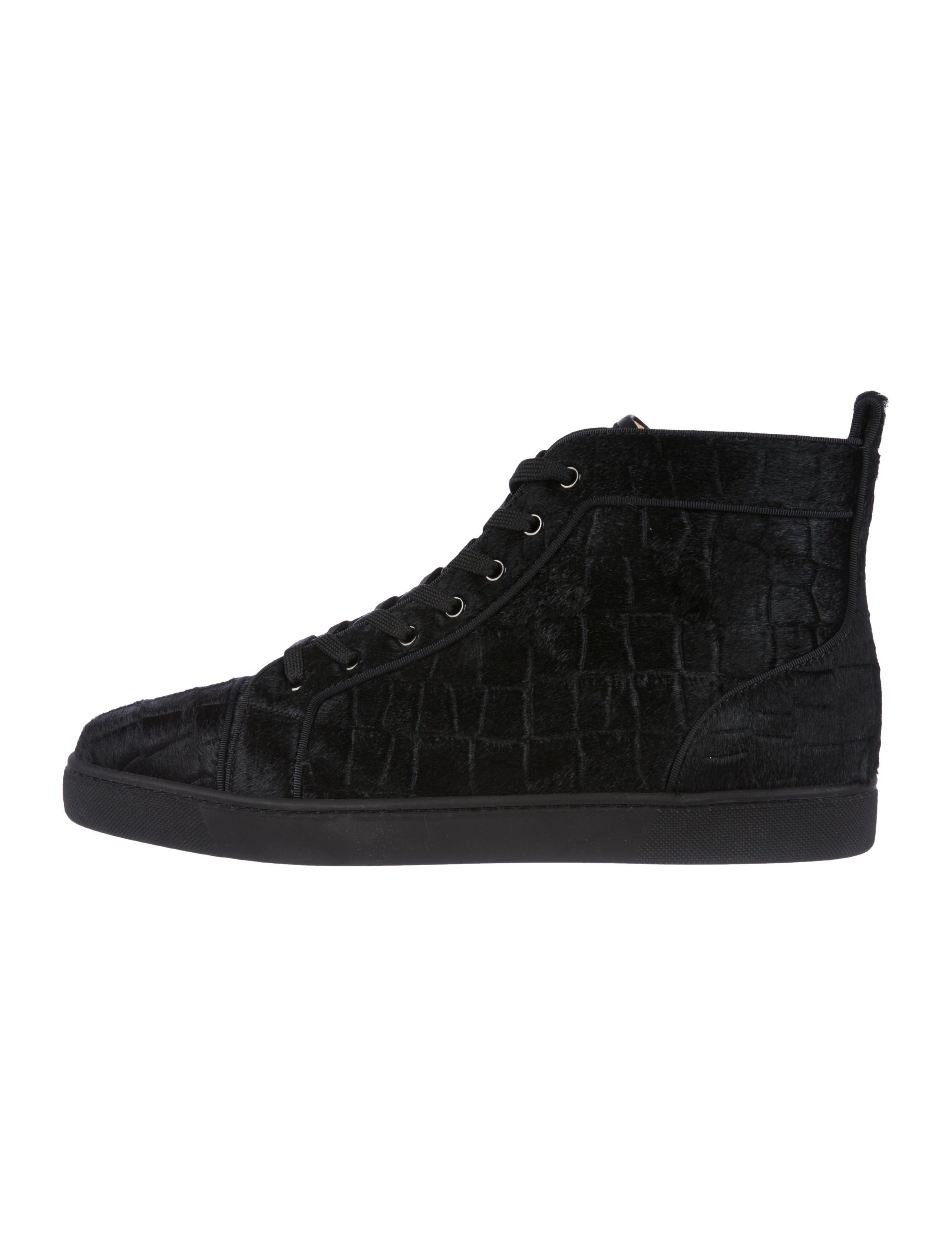 e926c2d3865 Christian Louboutin Louis Orlato Flat Ponyhair Sneakers w  Tags ...