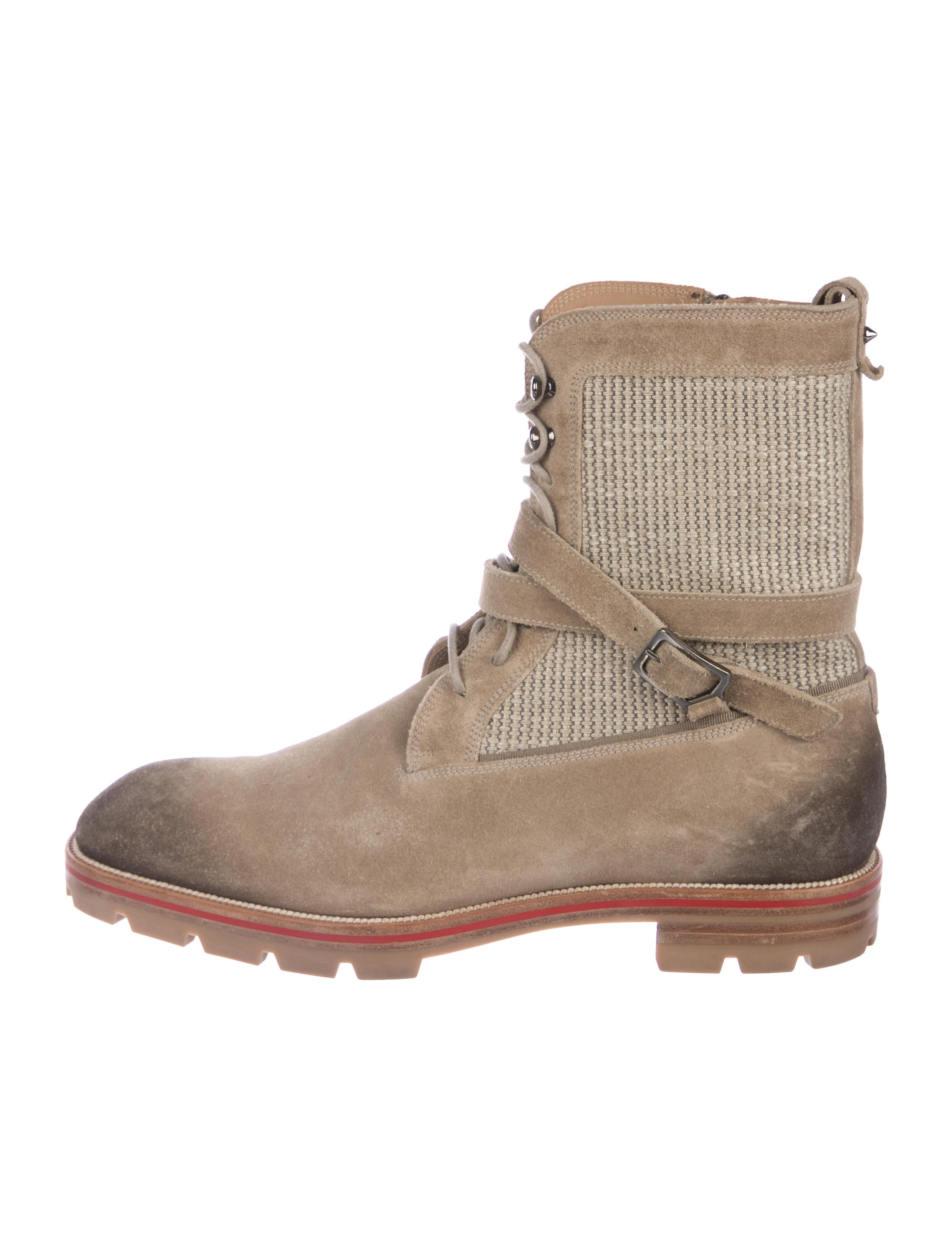 san francisco cfd6f ccacb Christian Louboutin Suede Combat Boots - Shoes - CHT99591 ...