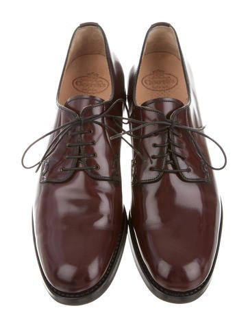 Leather Round-Toe Oxfords