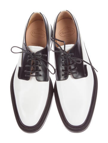 Two-Tone Leather Oxfords