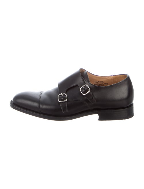 Church's Cowes Leather Monk Straps Black