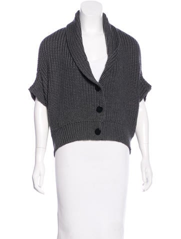Christian Wijnants Rib Knit Wool Cardigan None