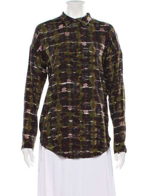 Christian Wijnants Silk Tie-Dye Print Button-Up To