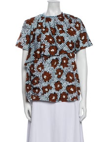 Christian Wijnants Printed Crew Neck Blouse w/ Tags