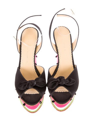 Nice Melon Wedge Sandals w/ Tags