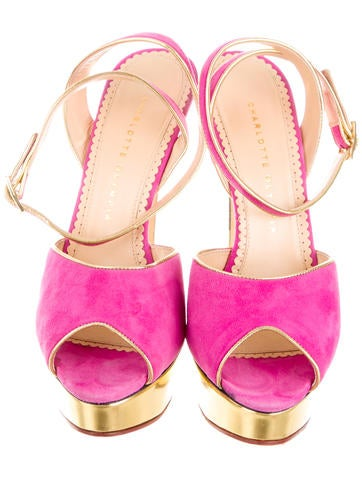 Peep-Toe Platform Sandals