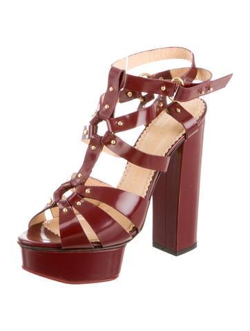 Stud Embellished Platform Sandals
