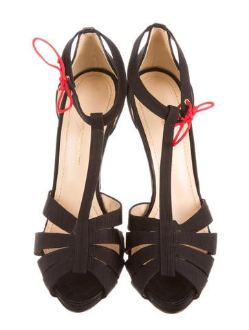 Satin Multistrap Platform Sandals