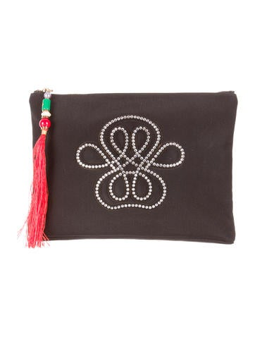 Crystal Embellished Pouch