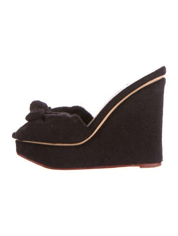 Terry Cloth Jayne Platform Wedges