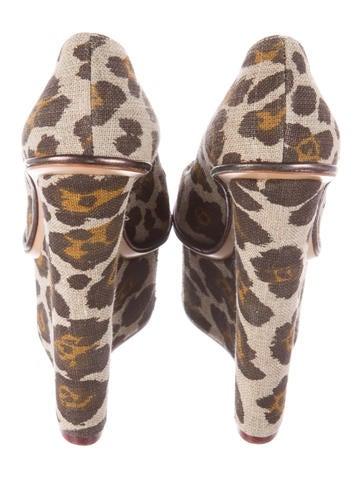 Leopard Print Platform Wedges