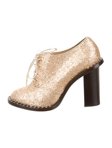 Glittered Lace-Up Booties