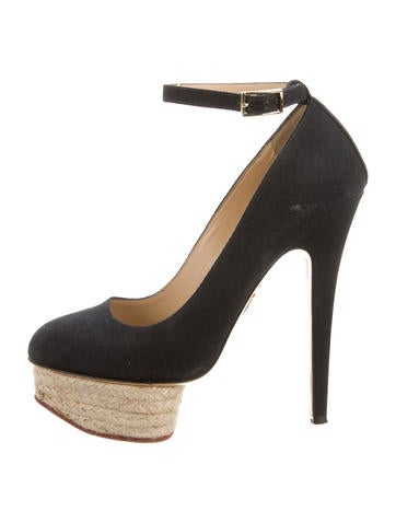 Charlotte Olympia Woven Platform Pumps None