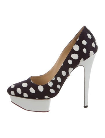 Charlotte Olympia Dolly Satin Pumps None