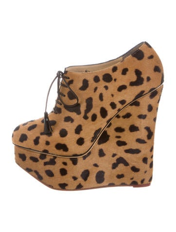 Charlotte Olympia Martha Ponyhair Booties brand new unisex sale online the cheapest clearance big discount Dustm01