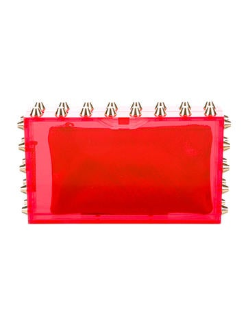Charlotte Olympia Pandora Studded Clutch None