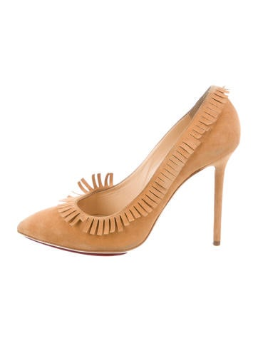 Charlotte Olympia Suede Fringe Pumps None