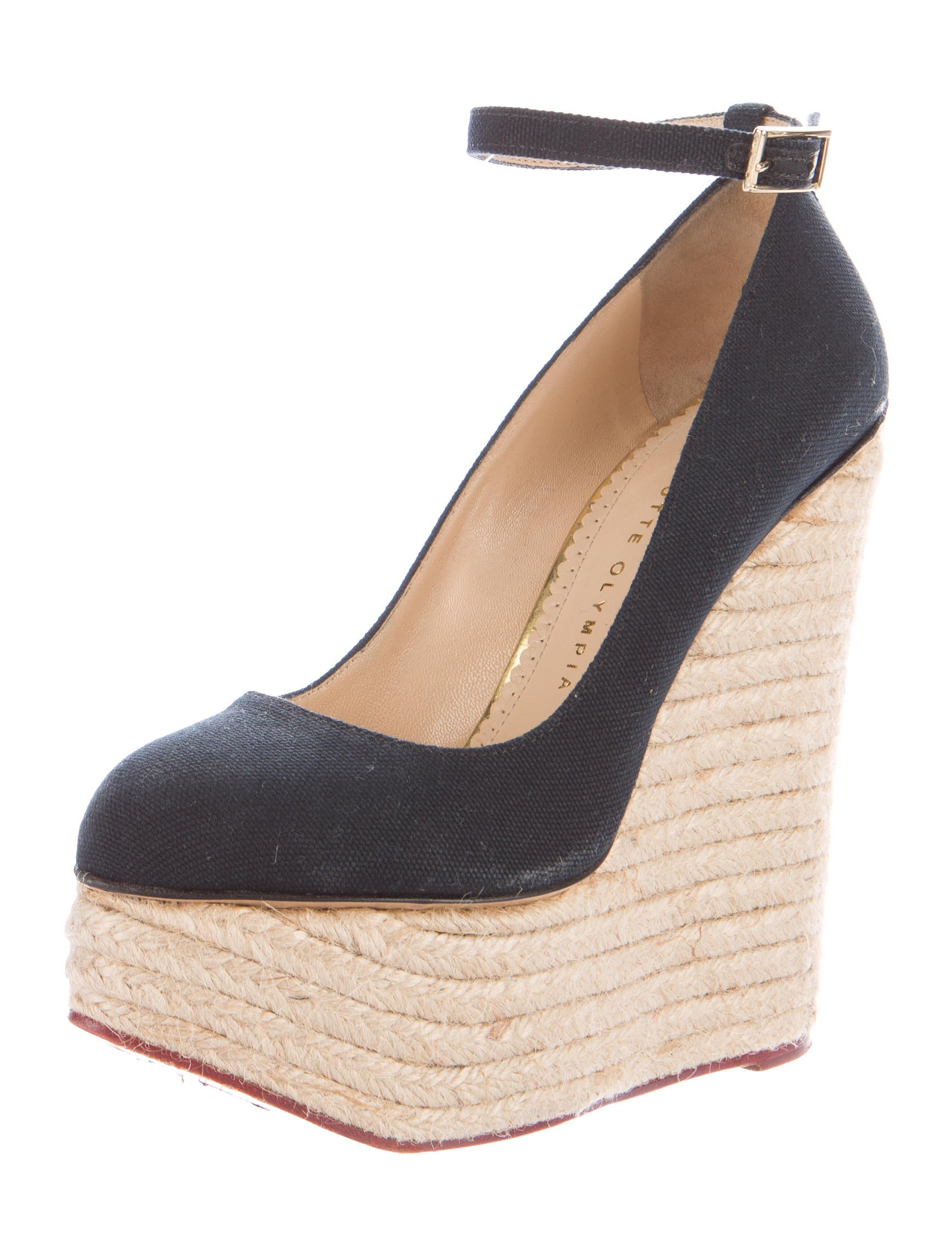 Charlotte Olympia Platform Espadrille Wedges Shoes  : CIO229222enlarged from www.therealreal.com size 1734 x 2287 jpeg 305kB