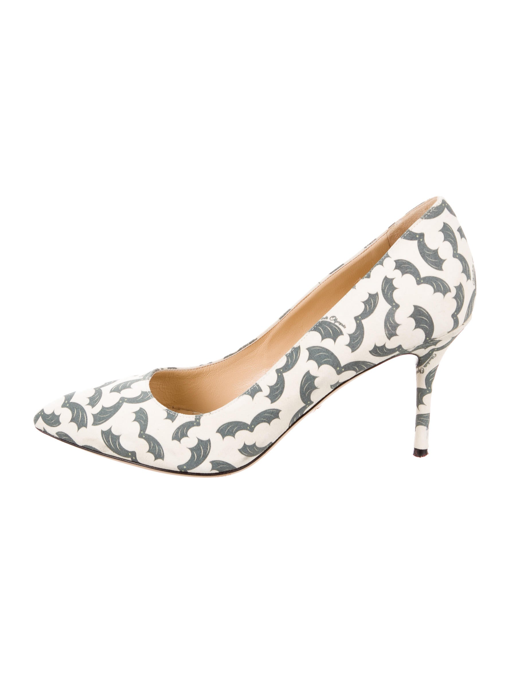 Charlotte Olympia Desiree Bat Print Pumps cheap sale pictures clearance cost OTr1qbu