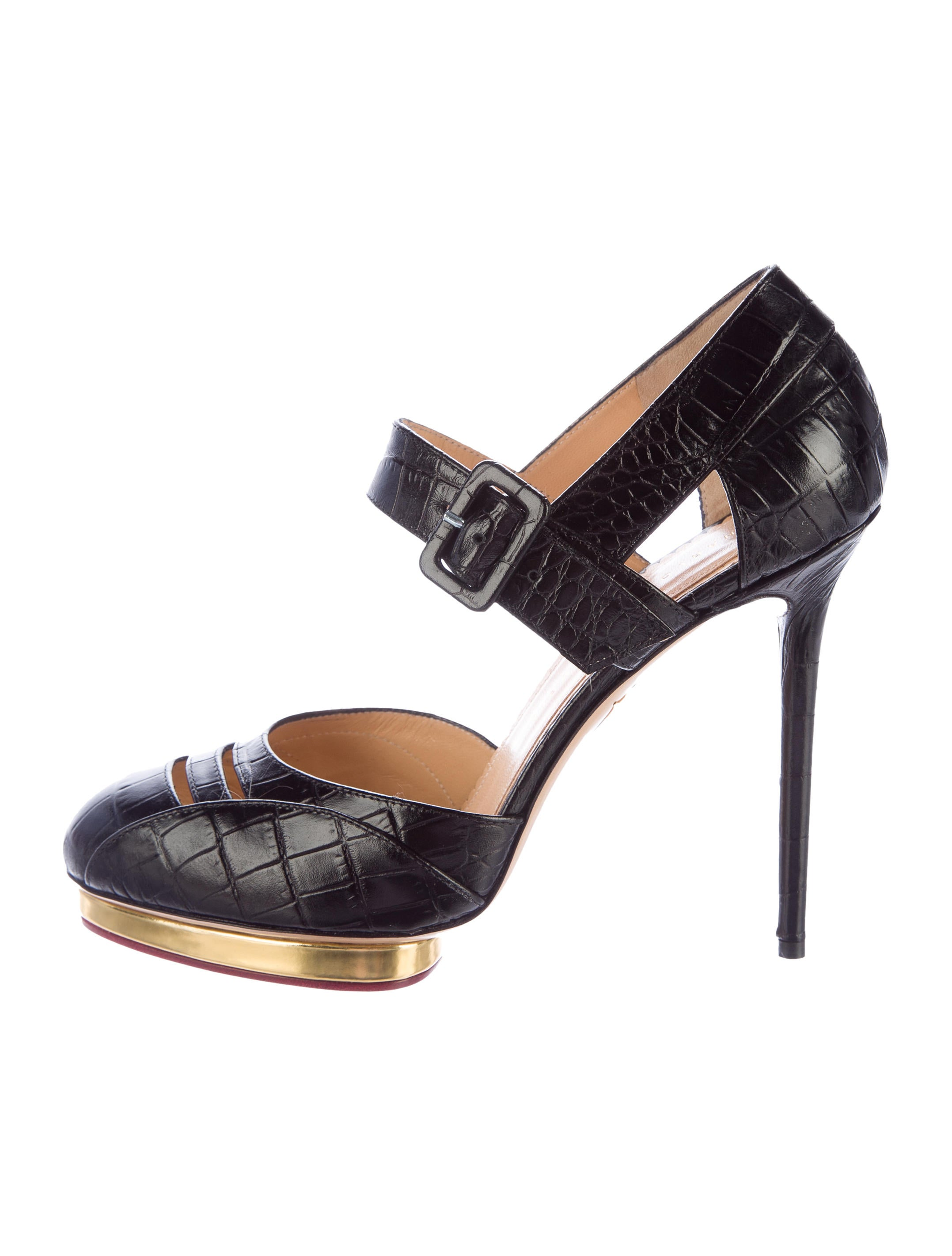 Charlotte Olympia Embossed d'Orsay Pumps outlet factory outlet GZ5lnF8qJB
