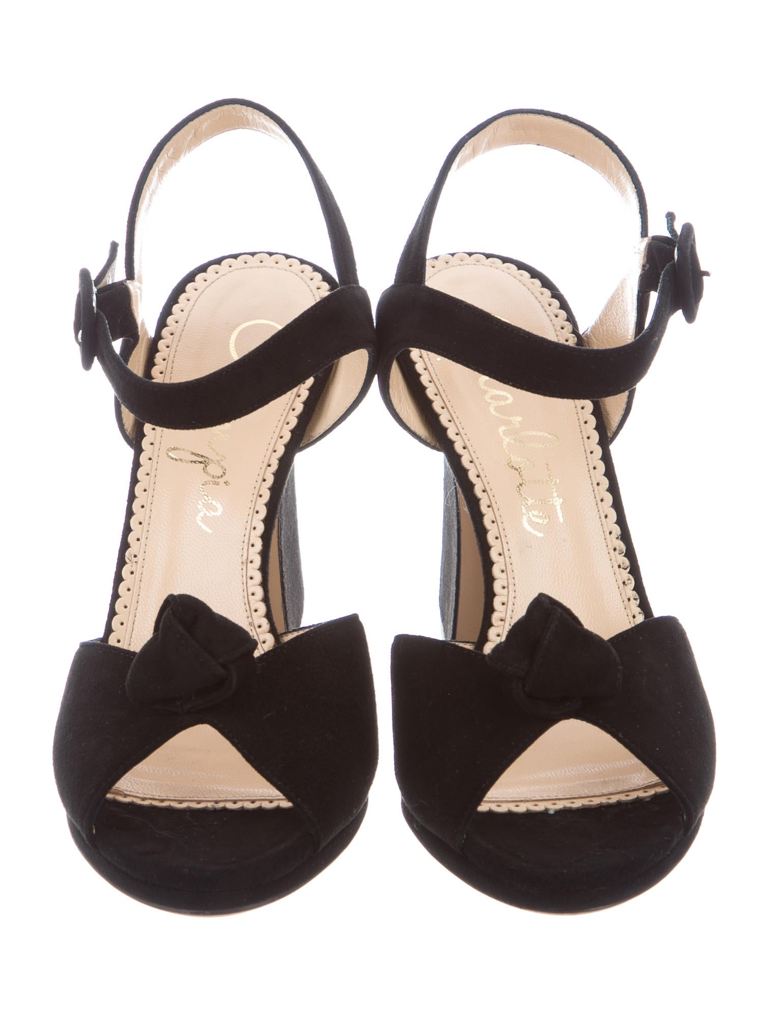 Charlotte Olympia Vega Knot-Accented Sandals clearance low cost Jl8m0HZna