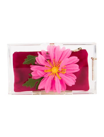 Charlotte Olympia Flowering Pandora Clutch None