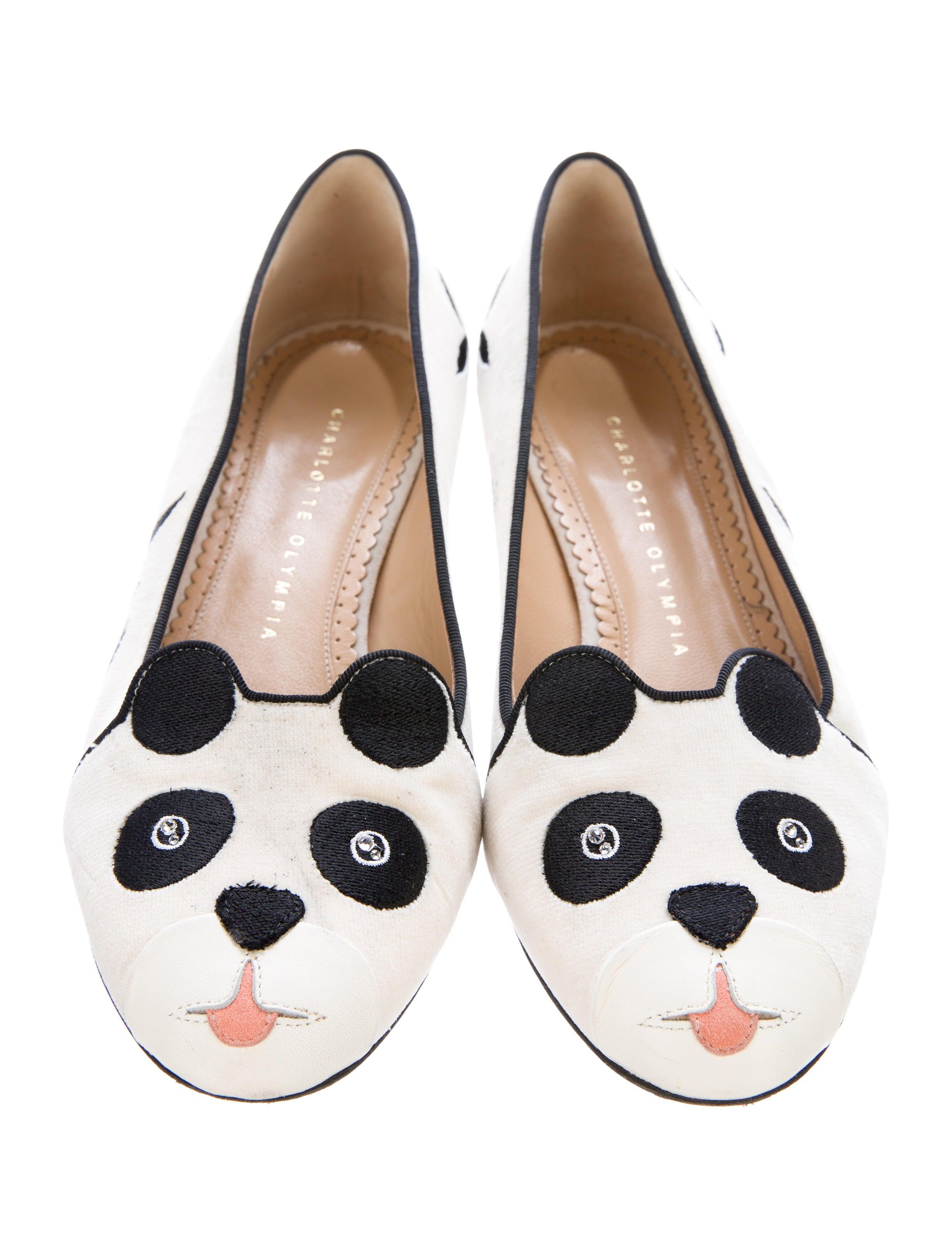 Charlotte Olympia Velvet Panda Flats find great sale online ZuAimh