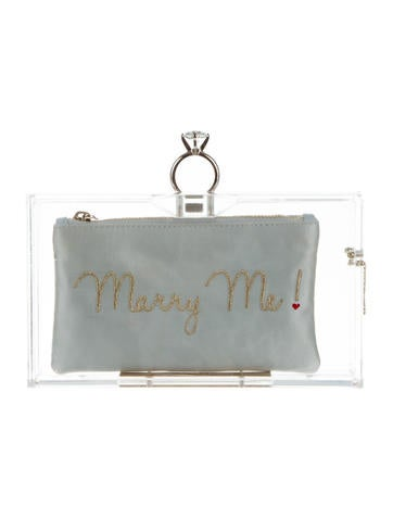 Charlotte Olympia Marry Me Pandora Clutch None