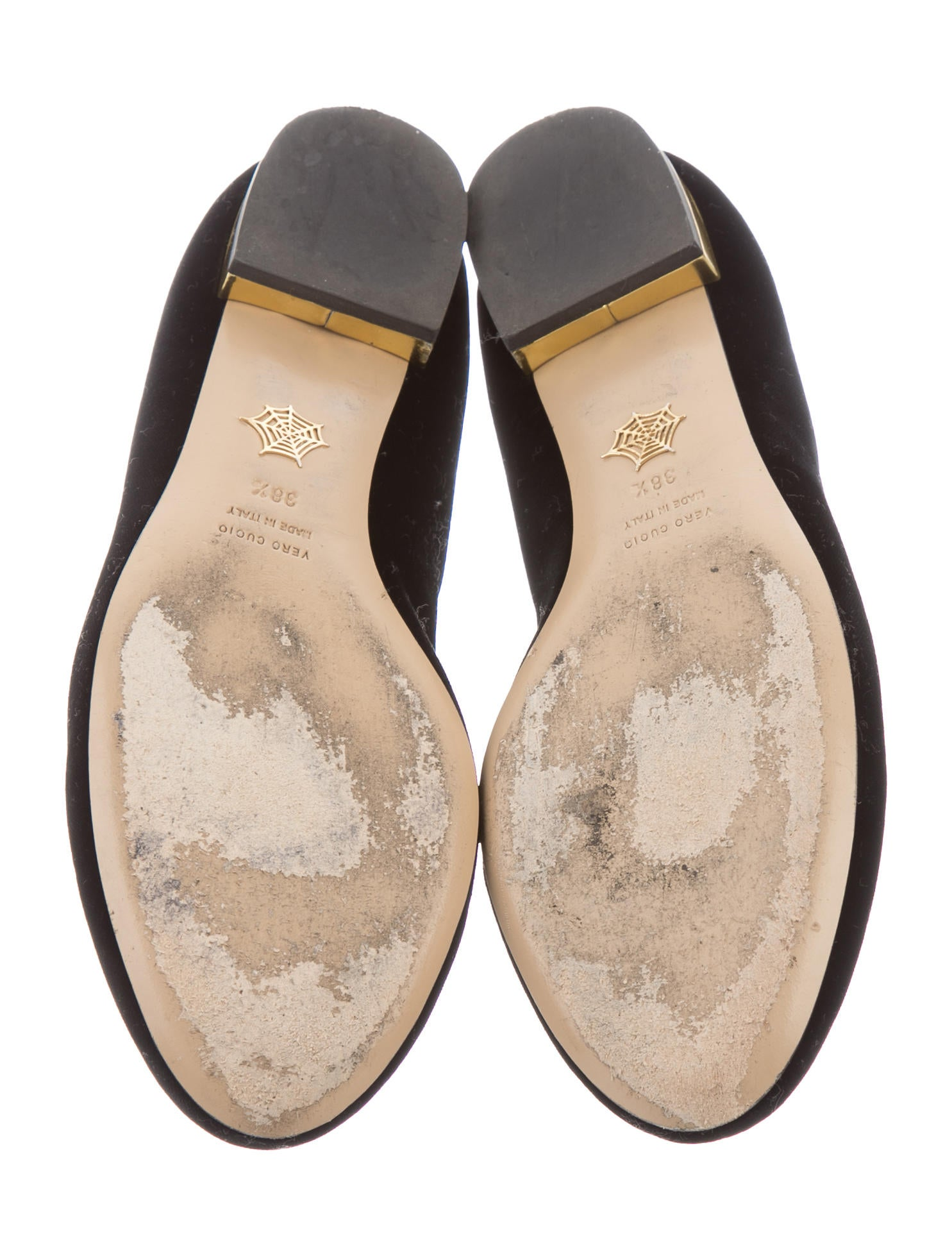 Charlotte Olympia Velvet Kitty Flats Shoes Cio23620