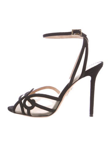 Charlotte Olympia Suede Sandals None