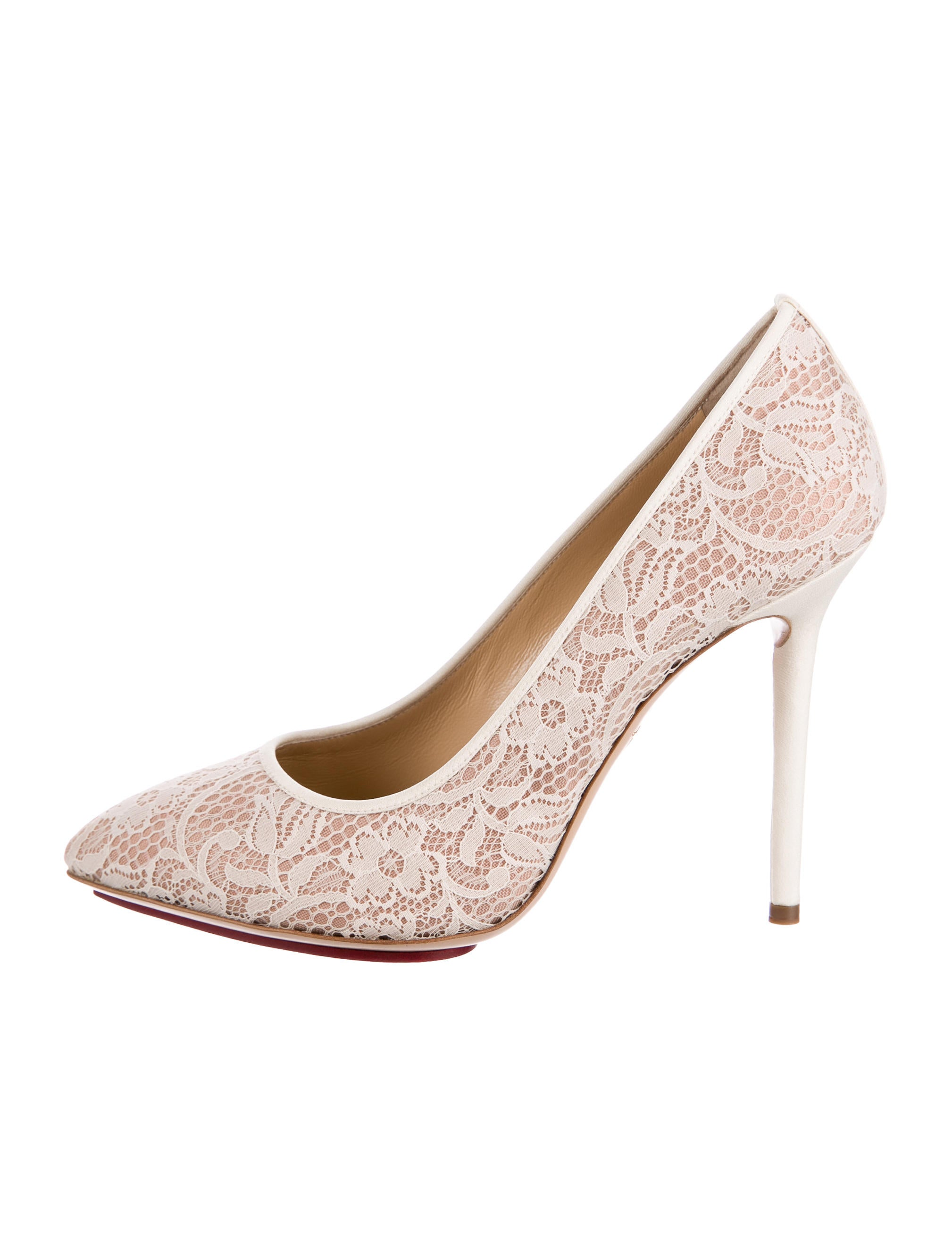buy cheap popular outlet Cheapest Charlotte Olympia Monroe Lace Pumps w/ Tags discount fashionable clearance store for sale tQaB2lH