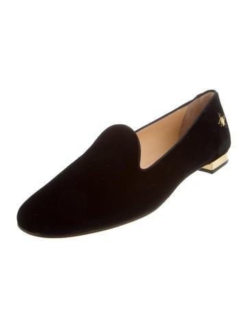 cheap sale explore Charlotte Olympia Velvet Round-Toe Loafers w/ Tags cheap new JzNL4cAvu