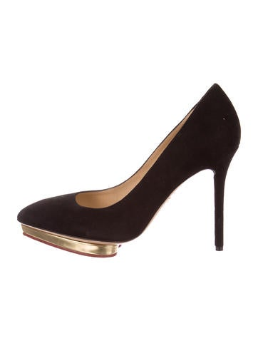 Charlotte Olympia Debbie Pointed-Toe Pumps None