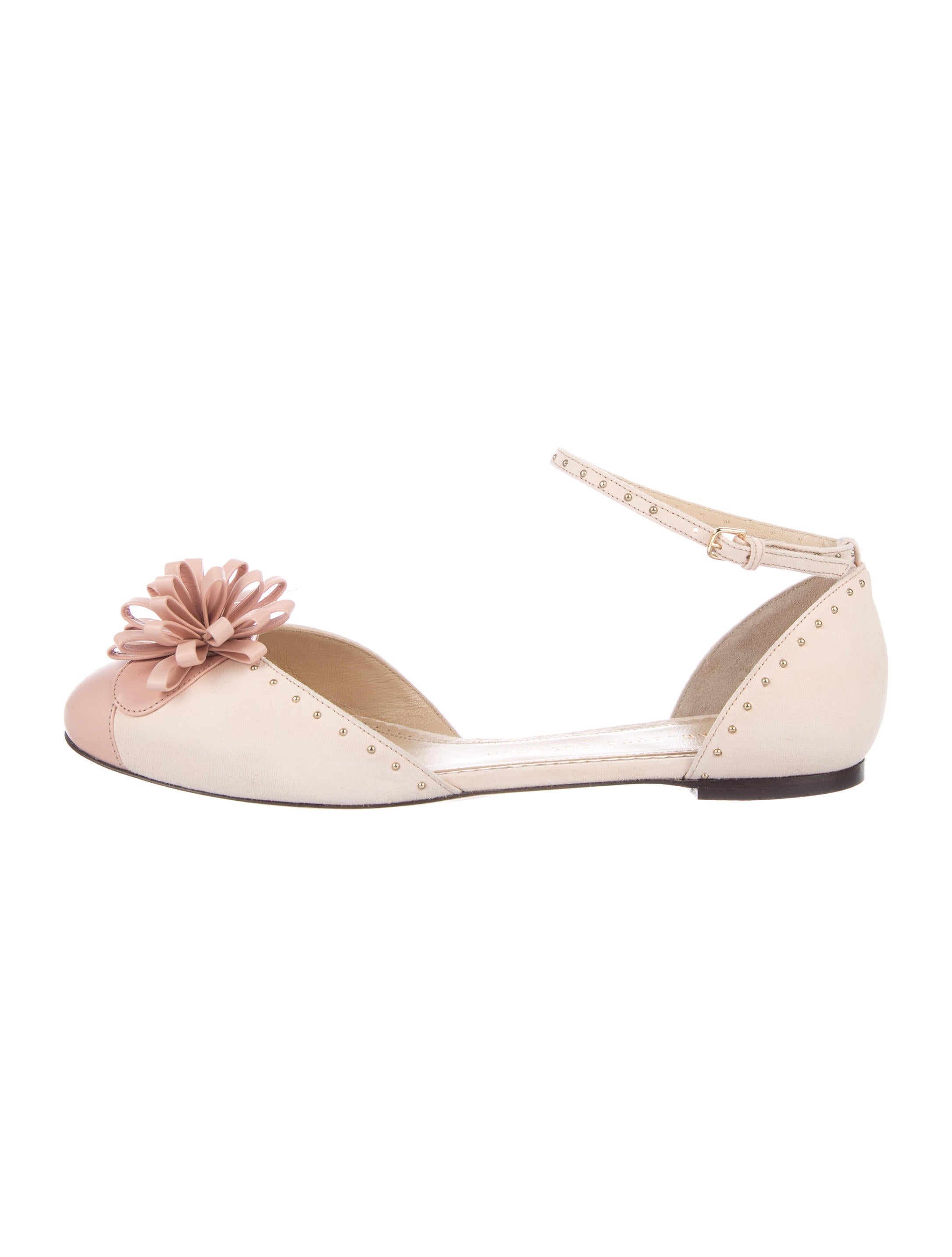 Charlotte Olympia Marcelle Suede Flats w/ Tags low cost cheap price many kinds of discount outlet buy cheap manchester great sale classic cheap price t1uqb23PX